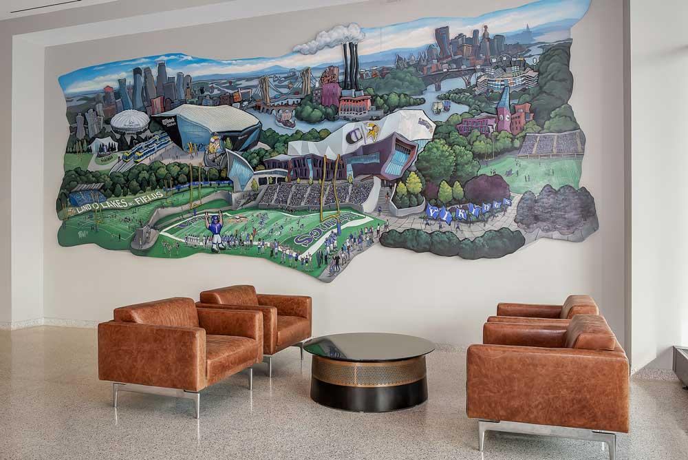 TCO Lounge Seating & Mural