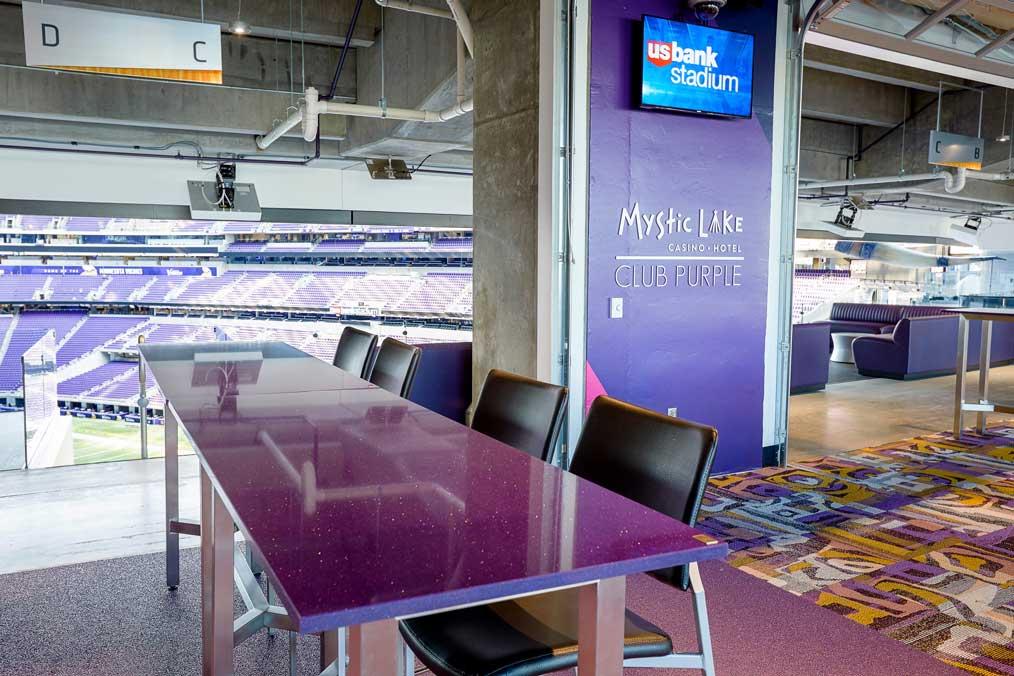 US Bank Stadium Club Purple