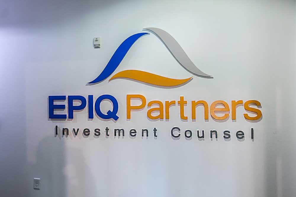 EPIQ Partners Dimensional Sign